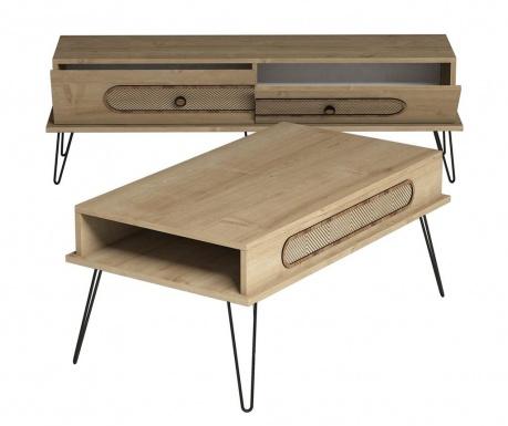Sada TV Komoda a konferenční stolek Ekol Oak
