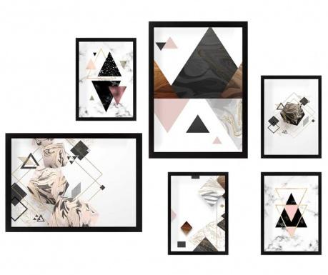 Set 6 tablouri Triangles