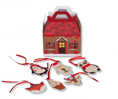 Set 48 darilnih etiket Holiday