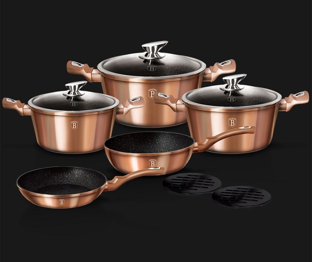 10-dijelni set posuda za kuhanje Metallic Rose Gold
