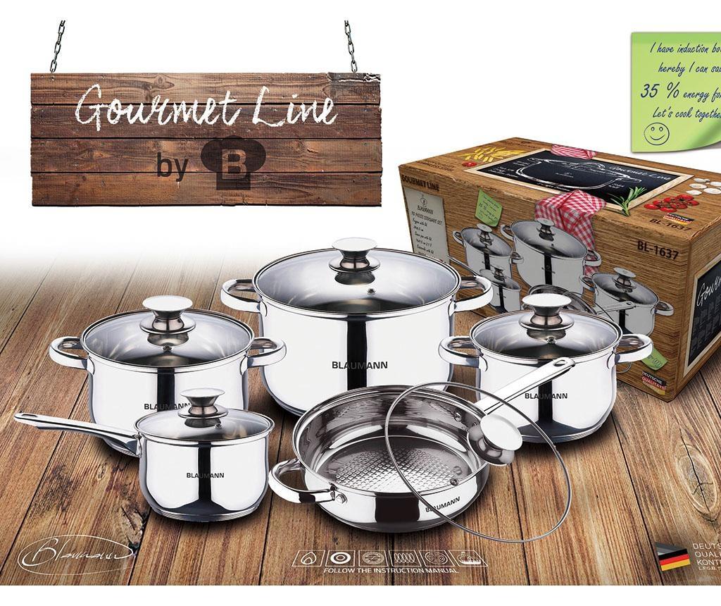 10-dijelni set posuda za kuhanje Gourmet