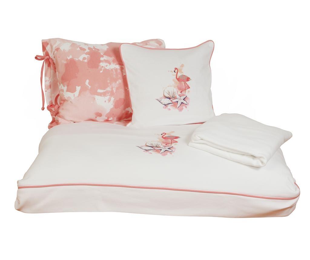 Posteljina za krevetić Satin Supreme Rosa White