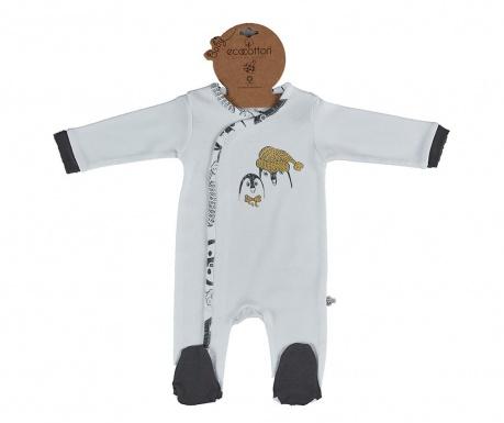 Pajac z dolgimi rokavi Pingu White 3-6 mesecev