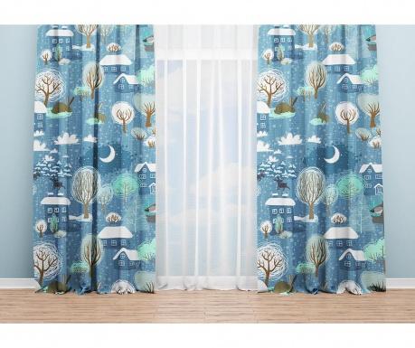 Set 2 draperii Leonard Blue 140x240 cm