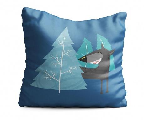 Wolf Blue Díszpárna 43x43 cm