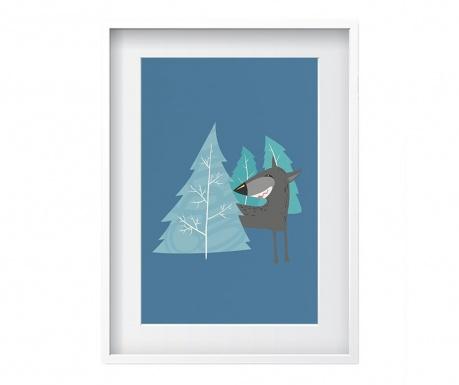Tablou Wolf Blue 24x29 cm