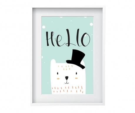 Tablou Hello Cat 24x29 cm