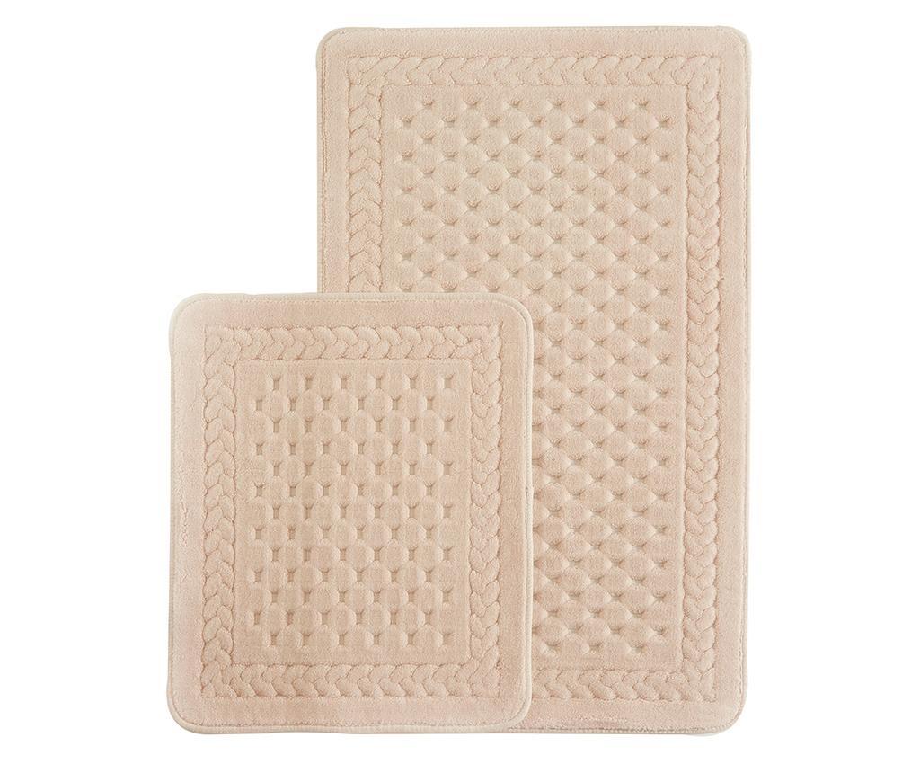 Lace Powder Pink 2 db Fürdőszobai szőnyeg