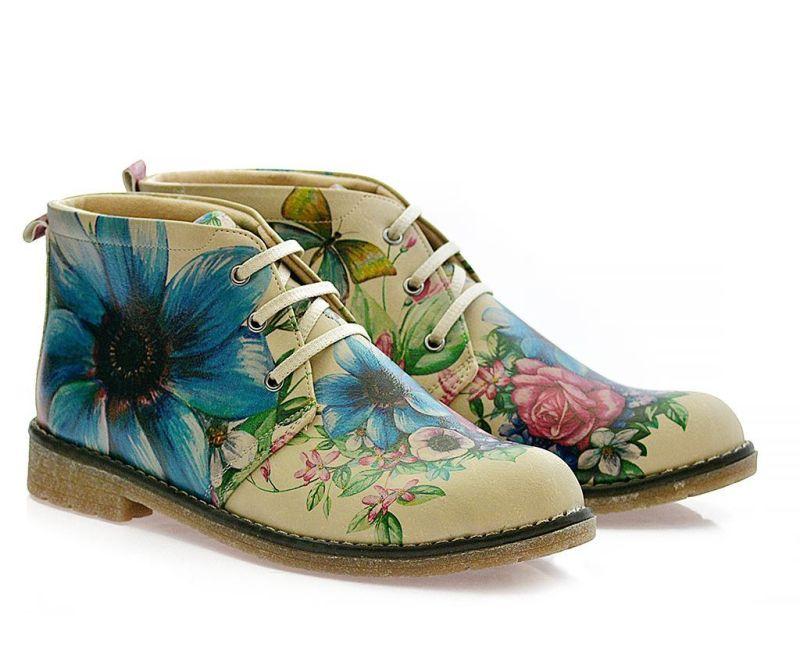 Ženske gležnjače Butterfly and Flowers 38