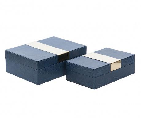 Set 2 kutije s poklopcem Milo Blue