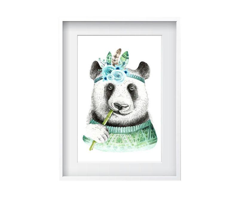 Tablou Bamboo Panda 24x29 cm