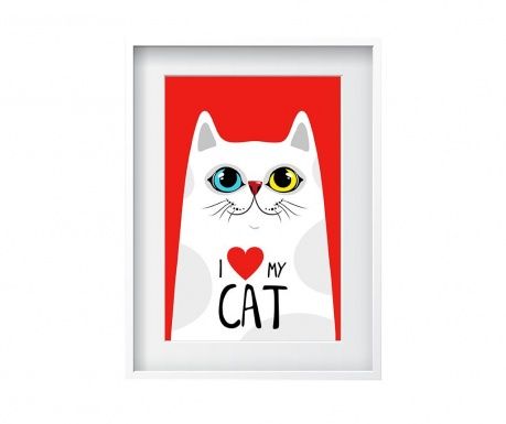 Slika Love My Cat 24x29 cm