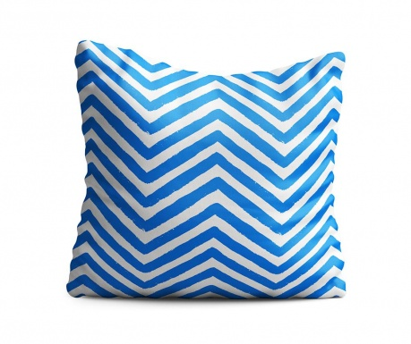 Zigzag Blue Díszpárna 43x43 cm