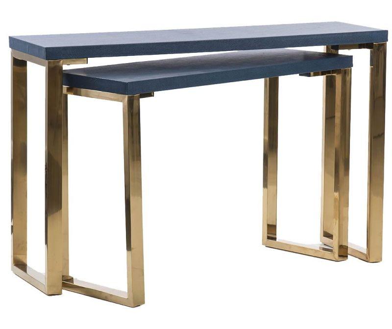 Sada 2 konzolových stolíkov Milo Blue