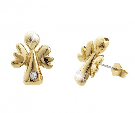 Náušnice Crystal Angels Gold