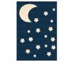 Preproga Moon and Stars Dark Blue 140x200 cm