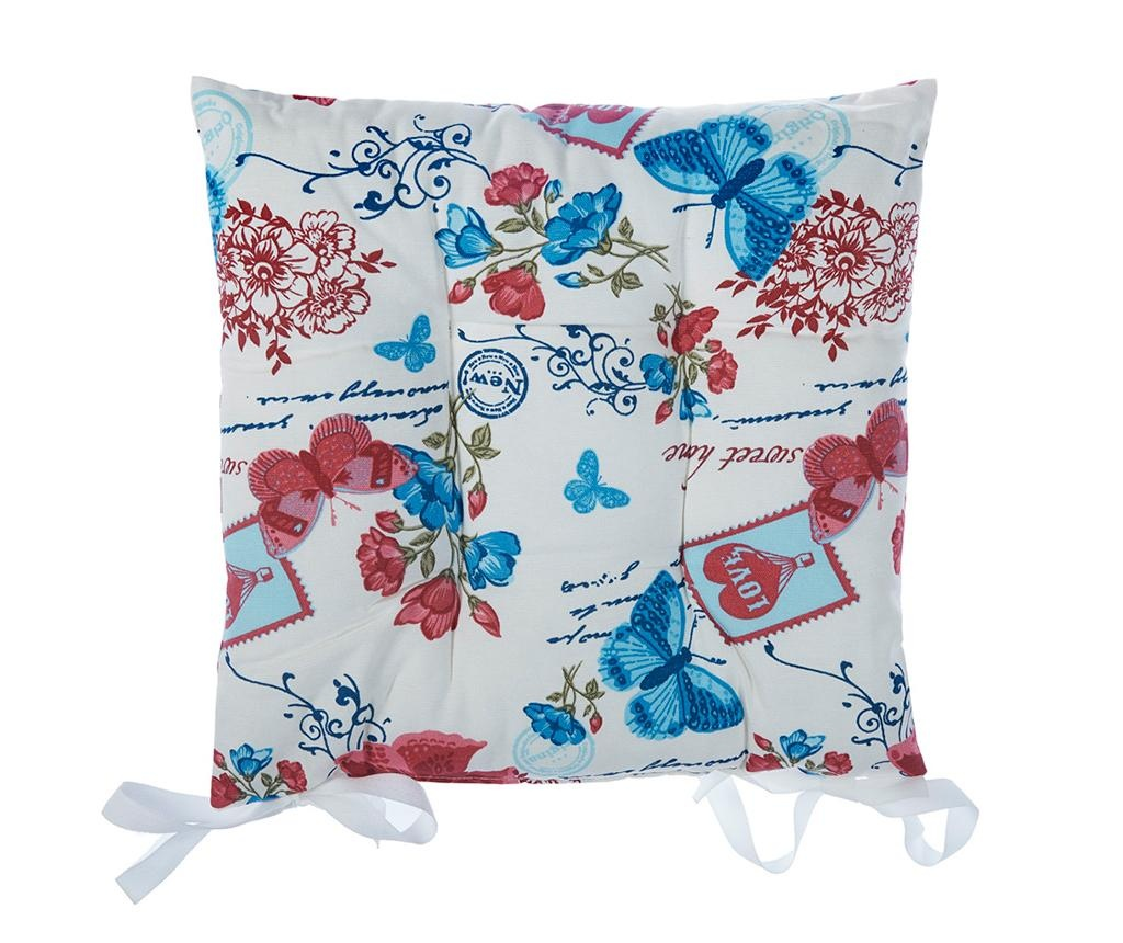 Sedežna blazina Butterfly Blue 37x37 cm