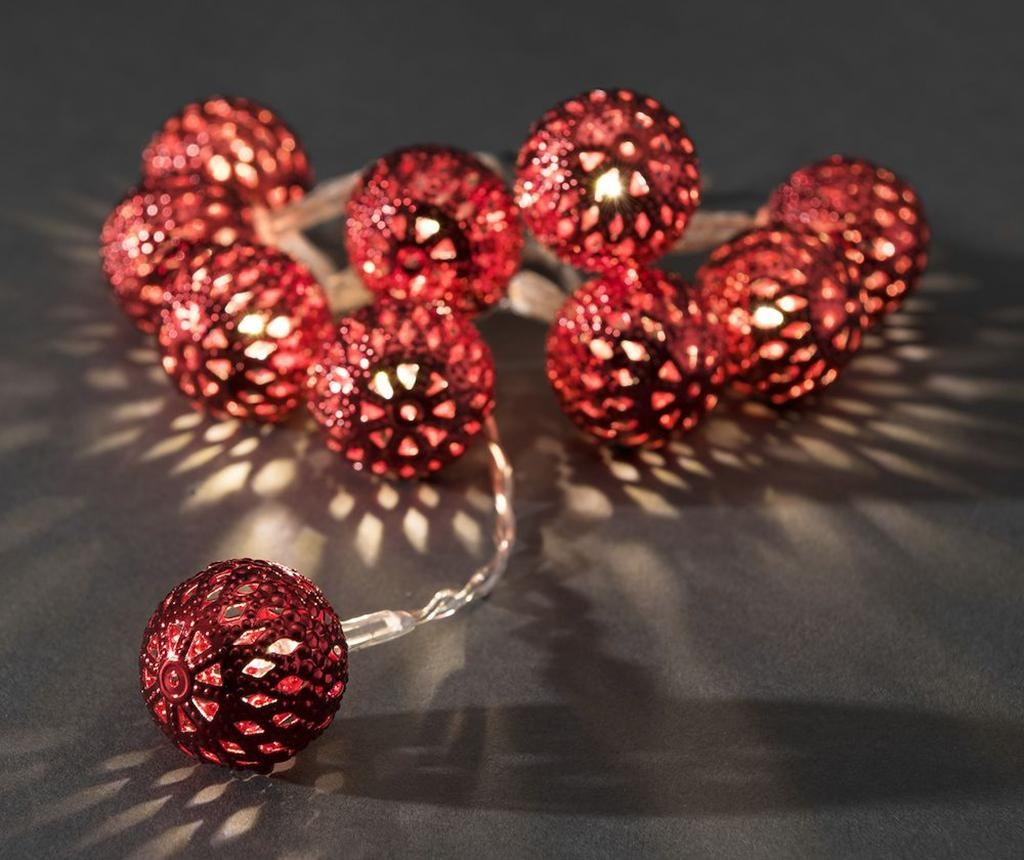 Red Beads Fényfüzér 90 cm