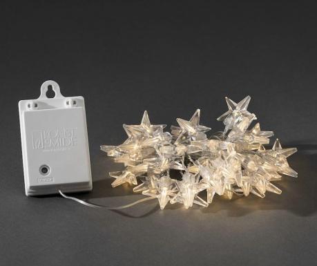 Ghirlanda luminoasa pentru exterior Icey Stars 390 cm