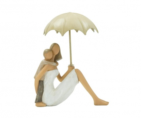 Dekoracja Woman Sitting with Umbrella