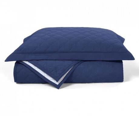 Комплект ватирана кувертюра King Percale Takisha Deep blue