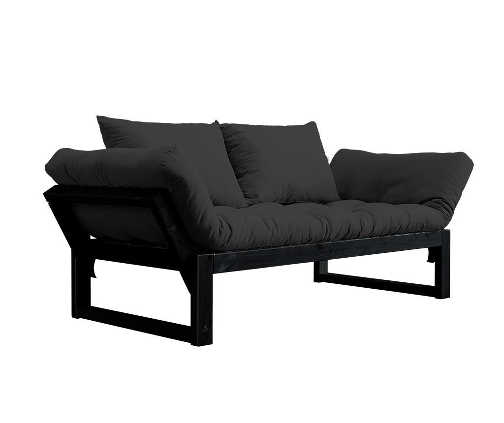 Sofa extensibila Edge Black and Dark Grey