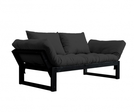 Sofa extensibila Edge Black and Dark Grey