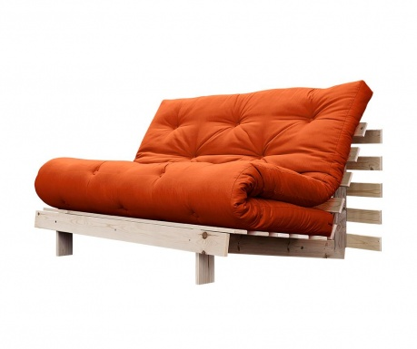 Sofa extensibila Roots Wide Natural and Orange