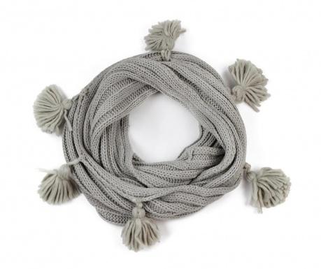 Дамски кръгъл шал Olga Grey 30x130 см