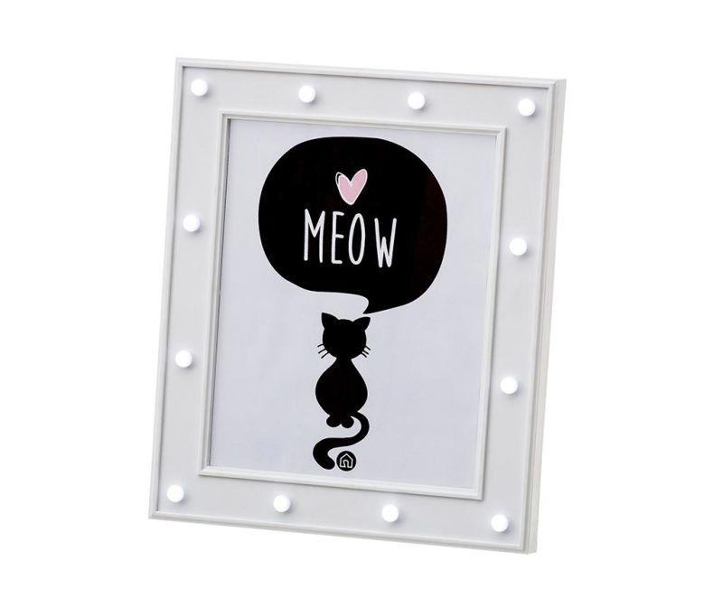 Okvir za slike sa LED-om Kitty Cat