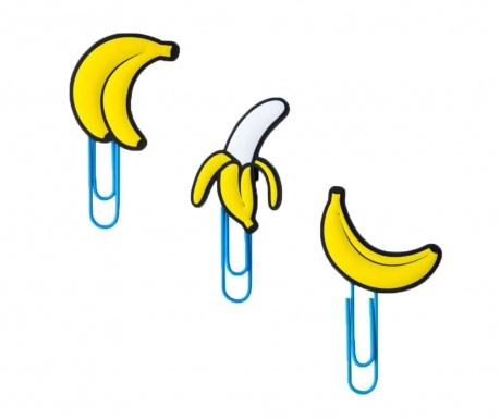 Sada 6 klipsů s přísavkou Banana