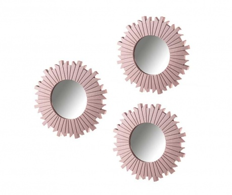 Set 3 oglinzi Wood Pink