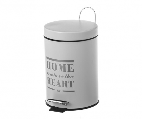 Kanta za smeće s poklopcem i pedalom Home Heart Light Grey 3 L