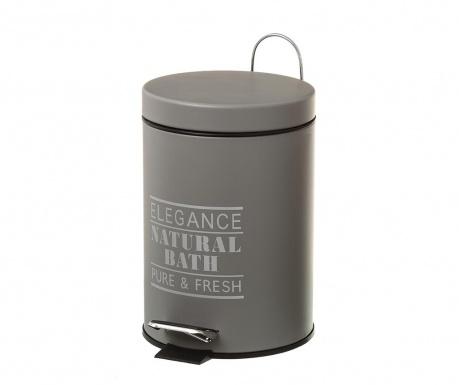 Кош за отпадъци с капак и педал Elegance Fresh Dark Grey 3 L