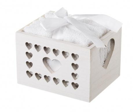 Комплект 4 кърпи за баня и кутия Hearts