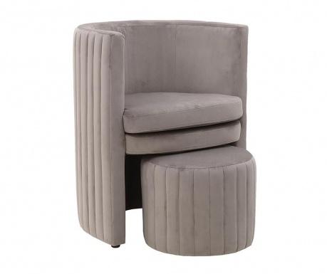 Комплект фотьойл и табуретка за крака Lily