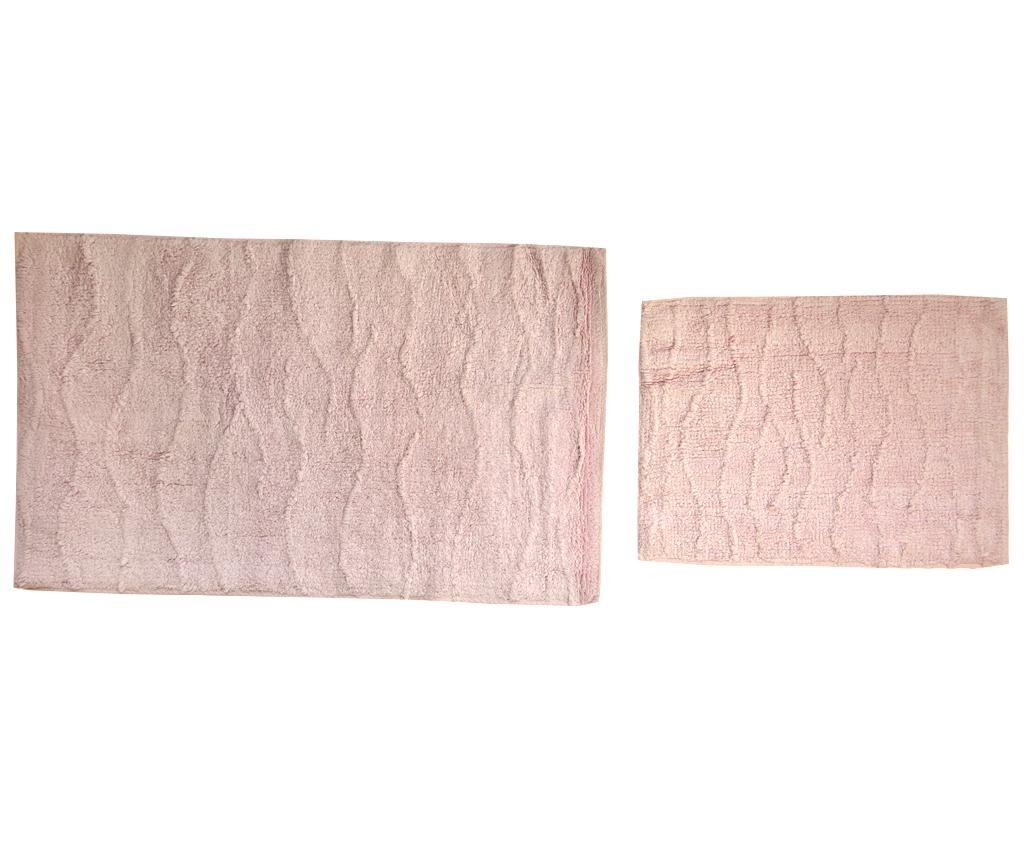 Set 2 kupaonska tepiha Drop Pink