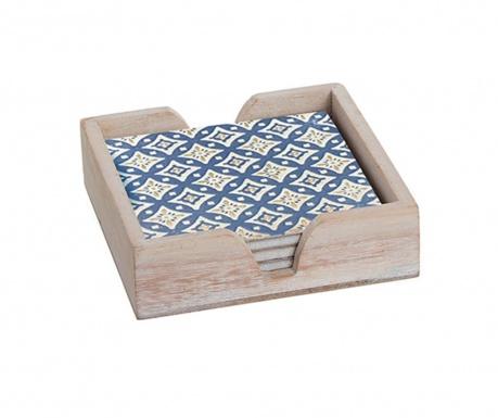 Zestaw 4 podstawek pod szklankę w pudełku Damin