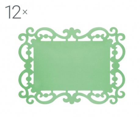 Комплект 12 подложки за хранене Baroque Light Green 32x44 см