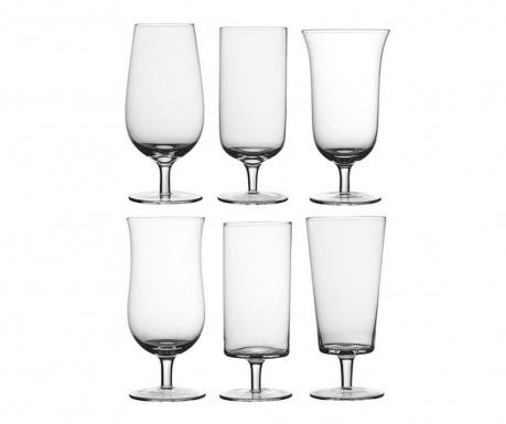 Сервиз 6 чаши за бира Diseguale 400 мл