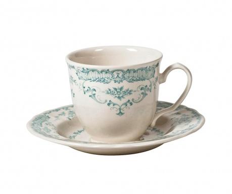 Сервиз за чай 6 чашки и 6 чинийки Rose Turquoise