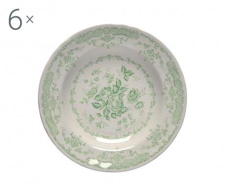 Сервиз 6 дълбоки чинии Rose Green