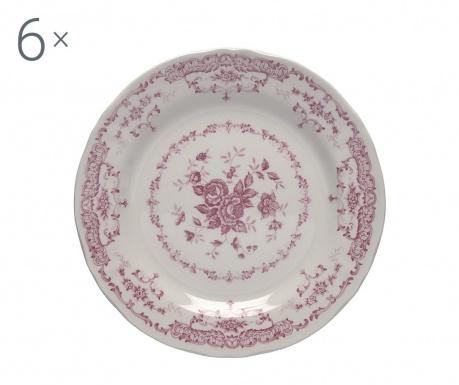 Сервиз 6 десертни чинии Rose Pink