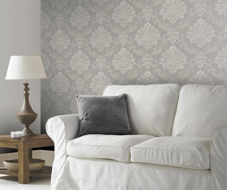 Stenska tapeta Palazzo Damask Silver 53x1005 cm
