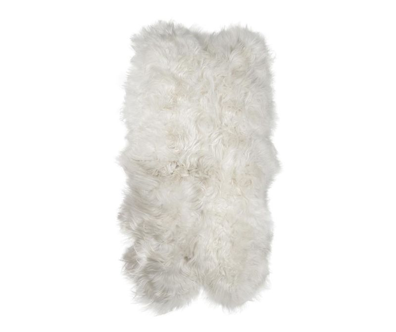 Jagnječji kožuh Icelandic Long Natural White 120x180 cm