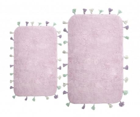 Zestaw 2 dywaników łazienkowych Lucca Purple