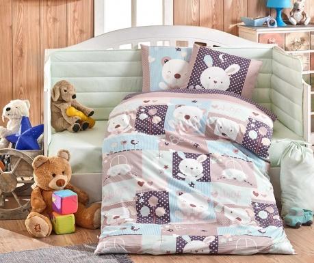 Otroška posteljnina Poplin Supreme Snoopy Mint