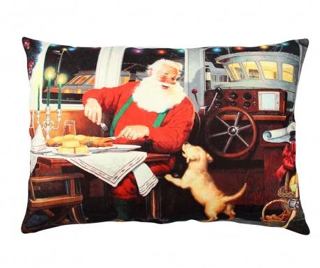 Okrasna blazina Santa and Dog 33x48 cm
