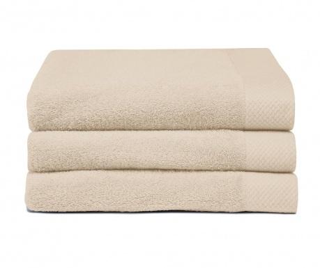 Set 3 kupaonska ručnika Pure Sand