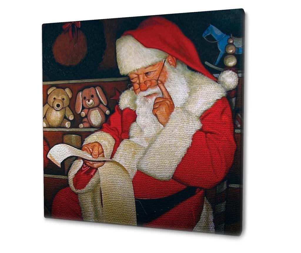 Slika Santa's List 45x45 cm